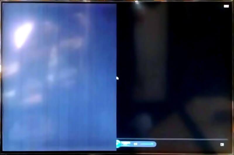 LED TV ekran (panel) arızası: ekranın yarısı siyah çıkıyor